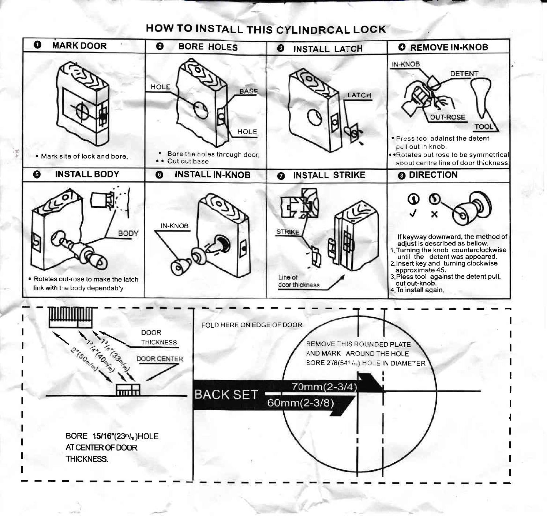 Cara pemasangan kunci pintu bundar kamar mandi by Rizky