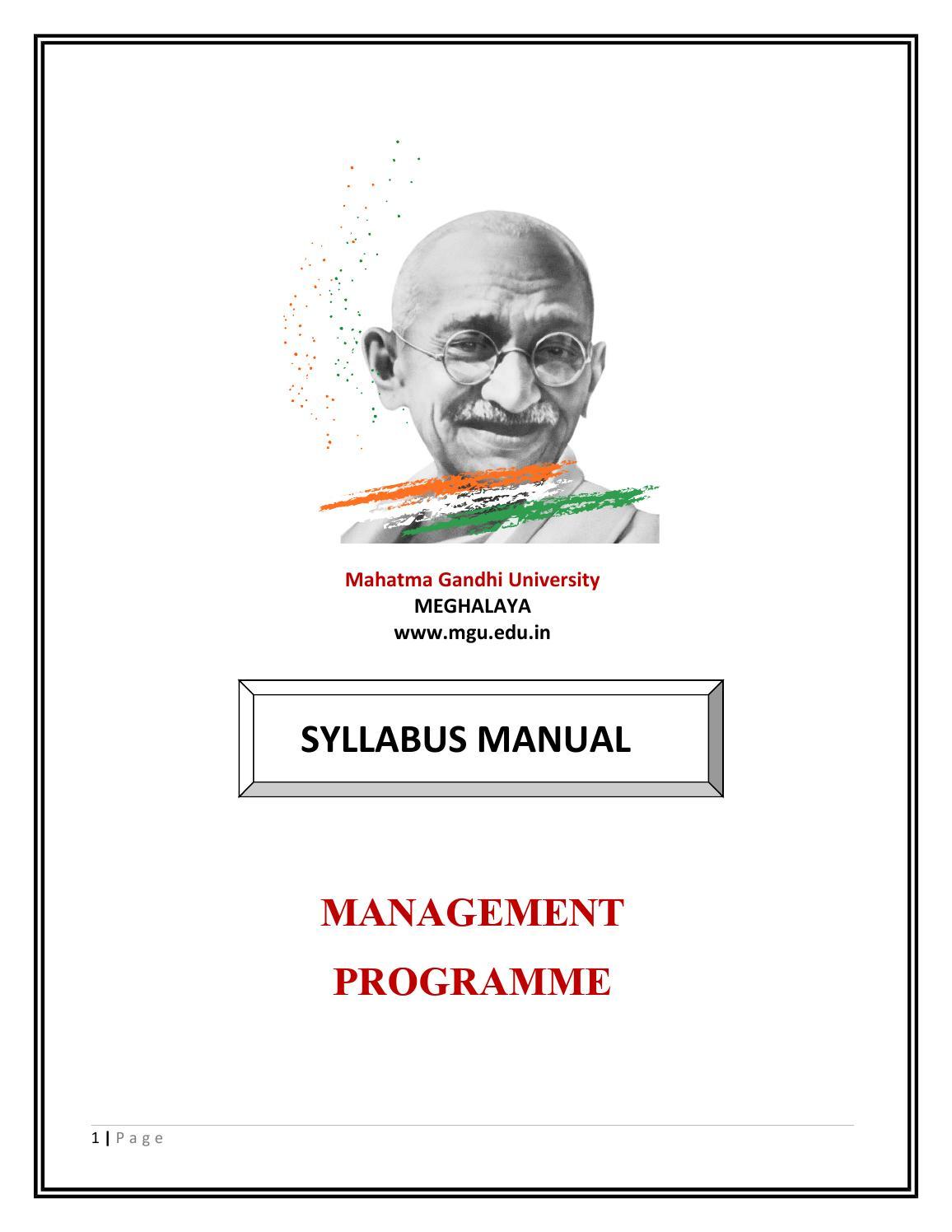 MBA- Retail Management Programme by Mahatma Gandhi