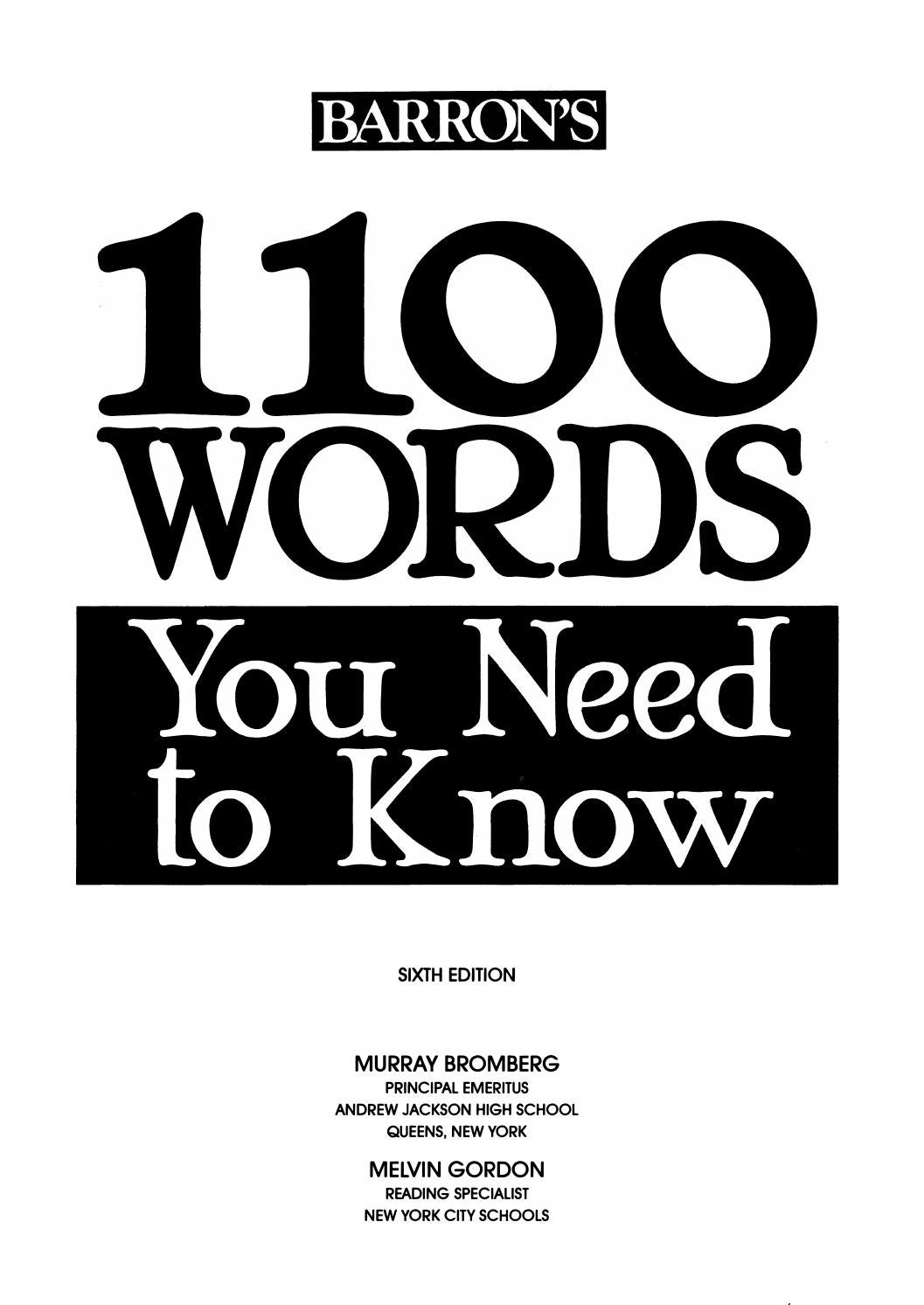 Preview 1100 words you need to known 6th by tusachduhoc