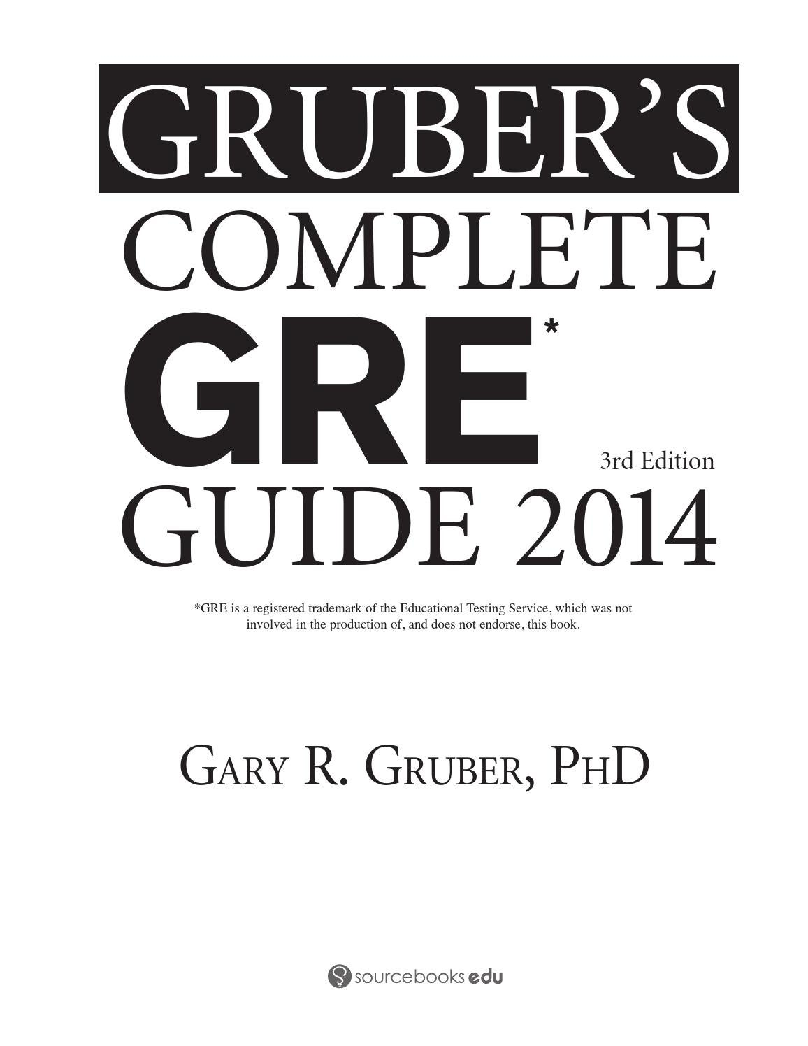 Preview gruber's complete gre guide 2014 by tusachduhoc