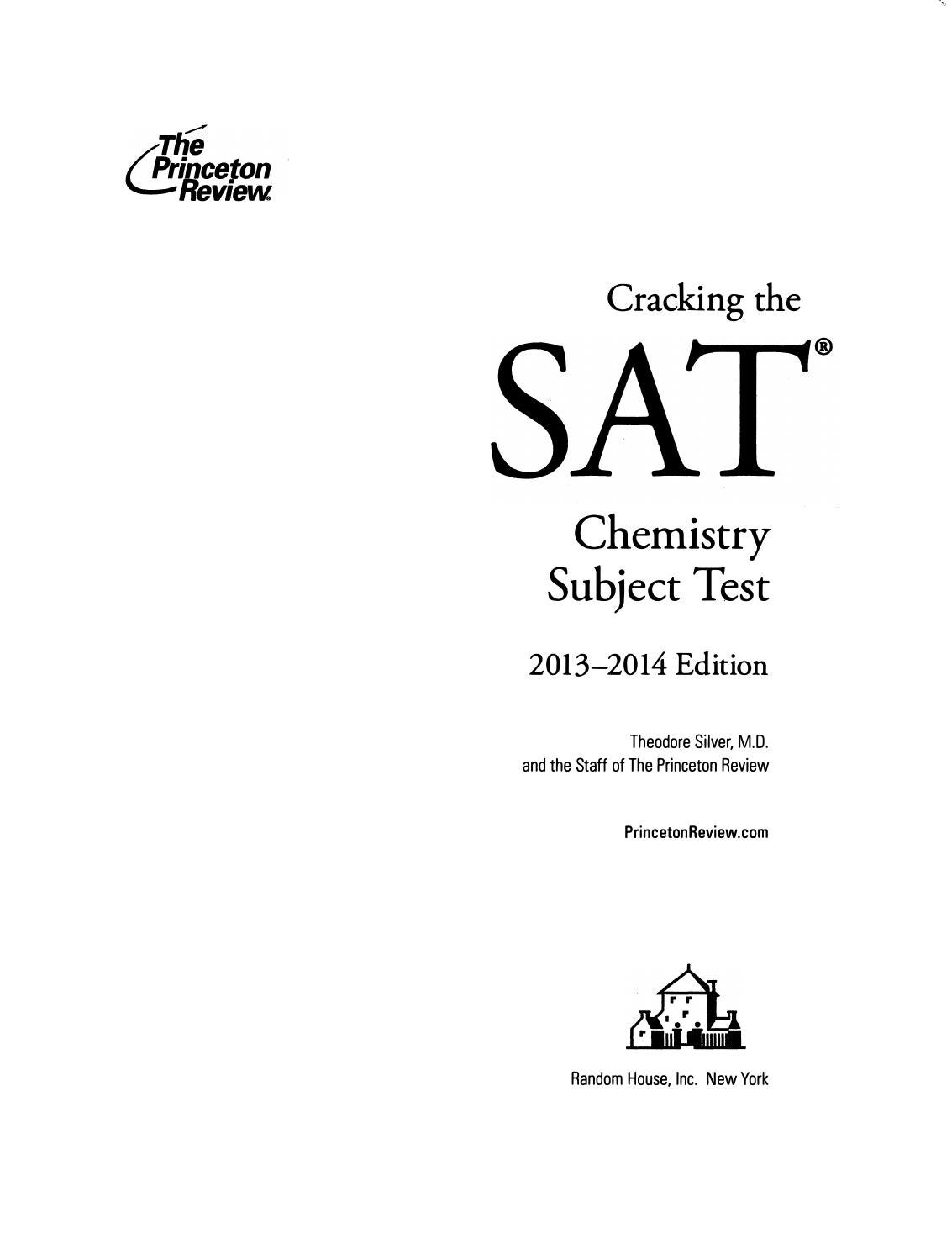 Preview cracking the sat chemistry subject test 2013 2014