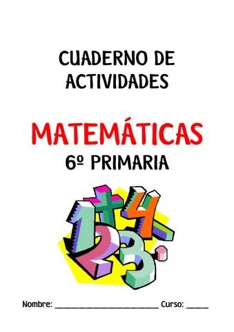 Cuadernillo De Evidencias De Matemáticas 6 : Cuaderno actividades matematicas 6 by Gema Alarcos - Issuu