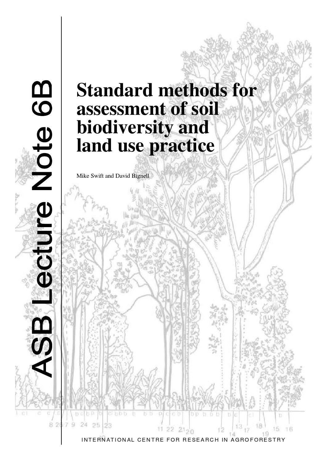 Los métodos estándar para evaluación de suelos la