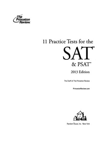 Preview 11 practice tests for sat and psat by tusachduhoc