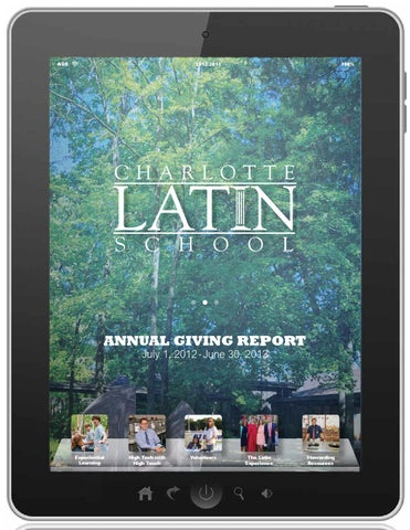 Charlotte Latin Annual Giving Report 201213 by Charlotte