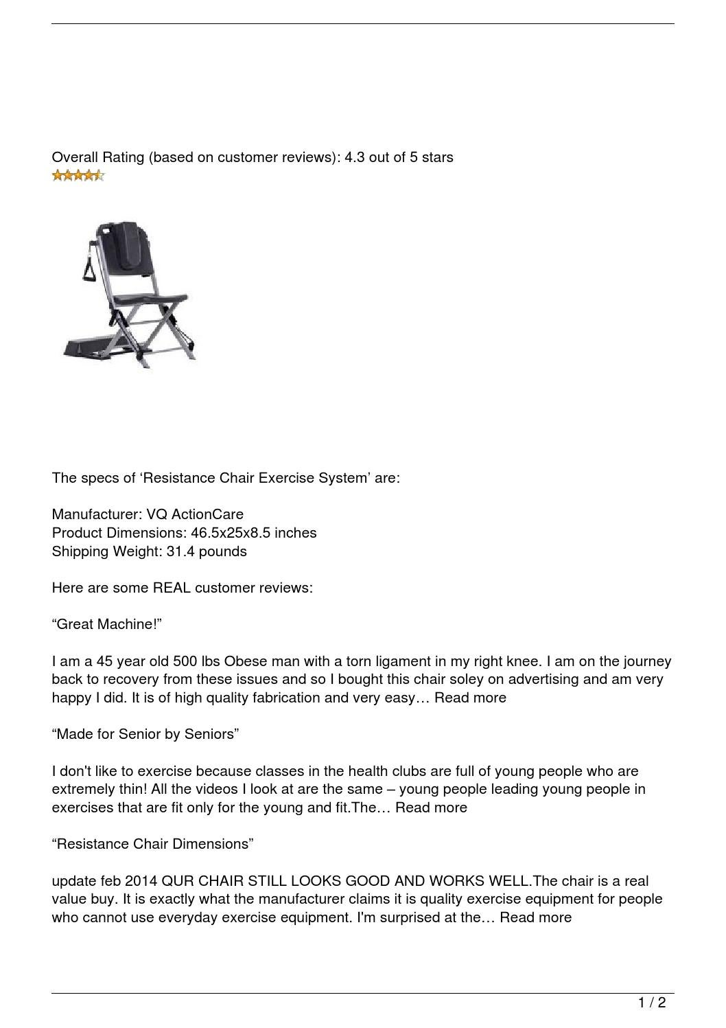 resistance chair exercise system reviews high for island kitchen review by le trung nghia