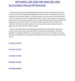 mitsubishi l200 1998 1999 2000 2001 2002 service repair manual pdf download by amurgului issuu [ 1156 x 1496 Pixel ]