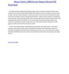 nissan sentra 2008 service repair manual pdf download by amurgului issuu [ 1156 x 1496 Pixel ]