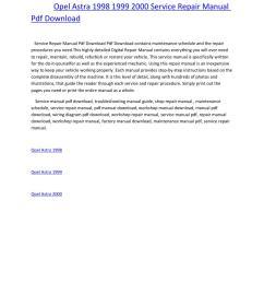 vauxhall opel astra g workshop service repair manual download 1998  [ 1156 x 1496 Pixel ]