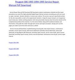 peugeot 306 1993 1994 1995 service repair manual pdf download by amurgului issuu [ 1156 x 1496 Pixel ]
