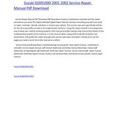 suzuki gsxr1000 2001 2002 service repair manual pdf download by amurgului issuu [ 1156 x 1496 Pixel ]