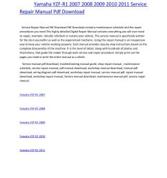 yamaha yzf r1 2007 2008 2009 2010 2011 service repair manual pdf download [ 1156 x 1496 Pixel ]