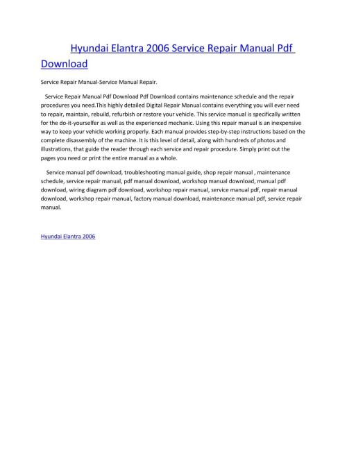 small resolution of hyundai elantra 2006 service manual repair pdf download by amurgului