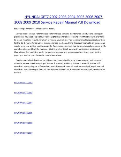 small resolution of hyundai getz 2002 2003 2004 2005 2006 2007 2008 2009 2010 service manual repair pdf download
