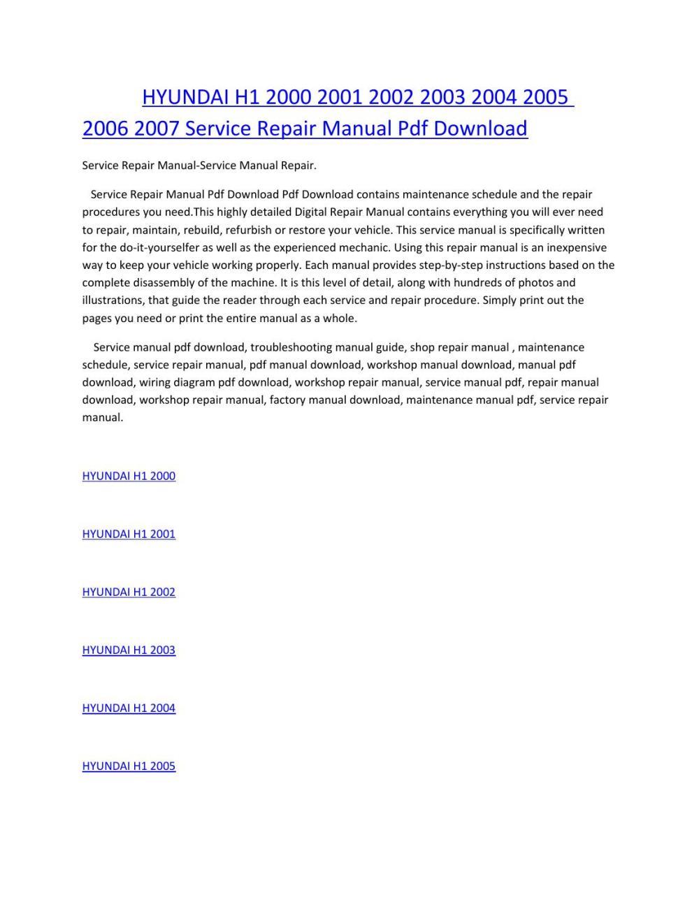 medium resolution of hyundai h1 wiring diagram wiring libraryhyundai h1 2000 2001 2002 2003 2004 2005 2006 2007 service