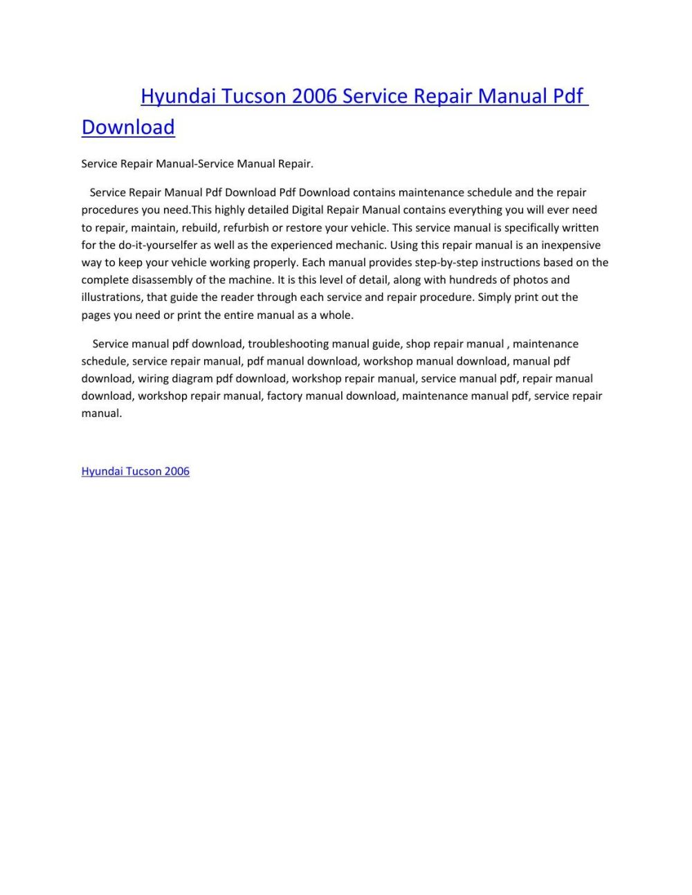 medium resolution of hyundai tucson 2006 service manual repair pdf download by amurgului issuu