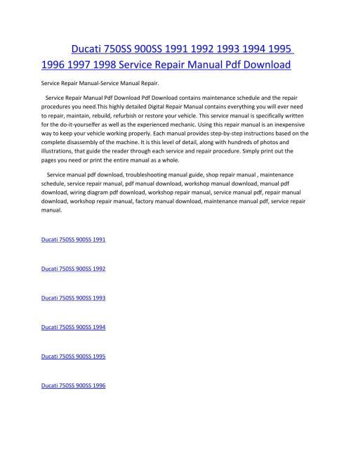 small resolution of ducati 750ss 900ss 1991 1992 1993 1994 1995 1996 1997 1998 service manual repair pdf download