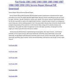 fiat panda 1981 1982 1983 1984 1985 1986 1987 1988 1989 1990 1991 service manual repair pdf download by amurgului issuu [ 1156 x 1496 Pixel ]