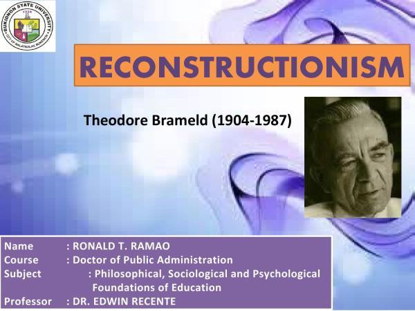 Reconstructionism Ronald Ramao - Issuu
