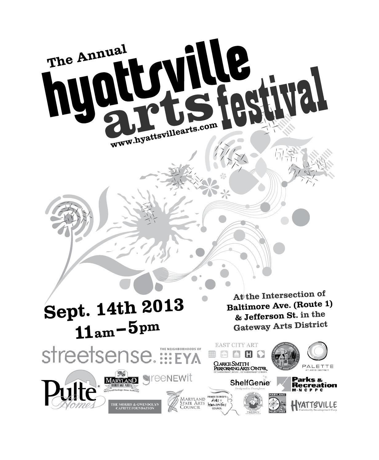 2013 6th Annual Downtown Hyattsville Arts Festival Program