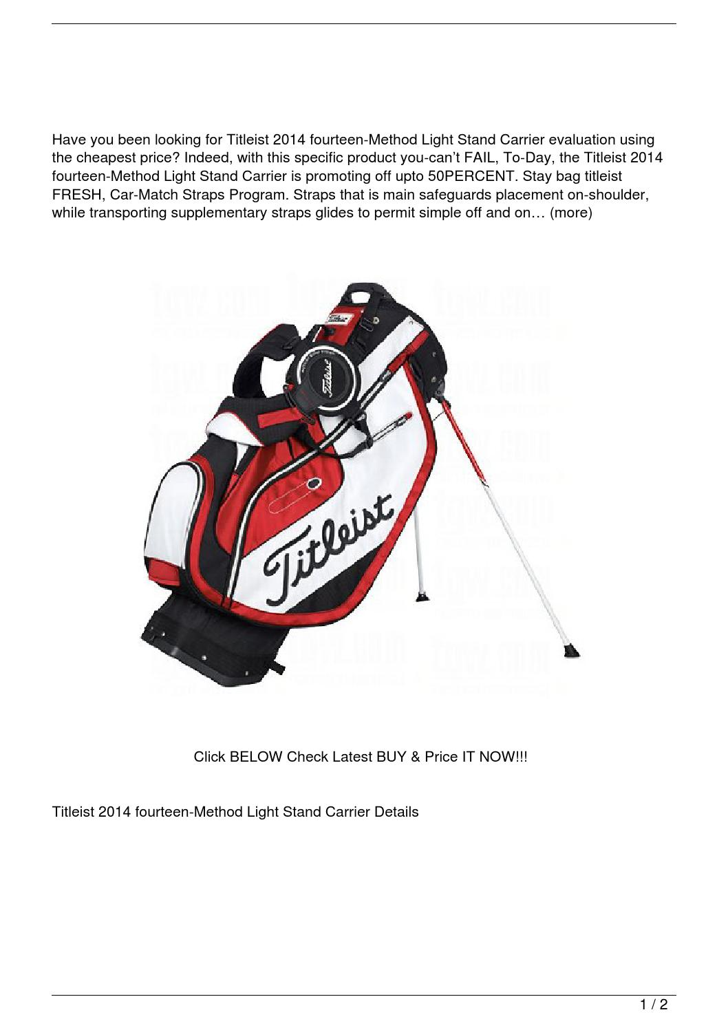 Titleist 2014 14-Way Lightweight Stand Bag Review by Le