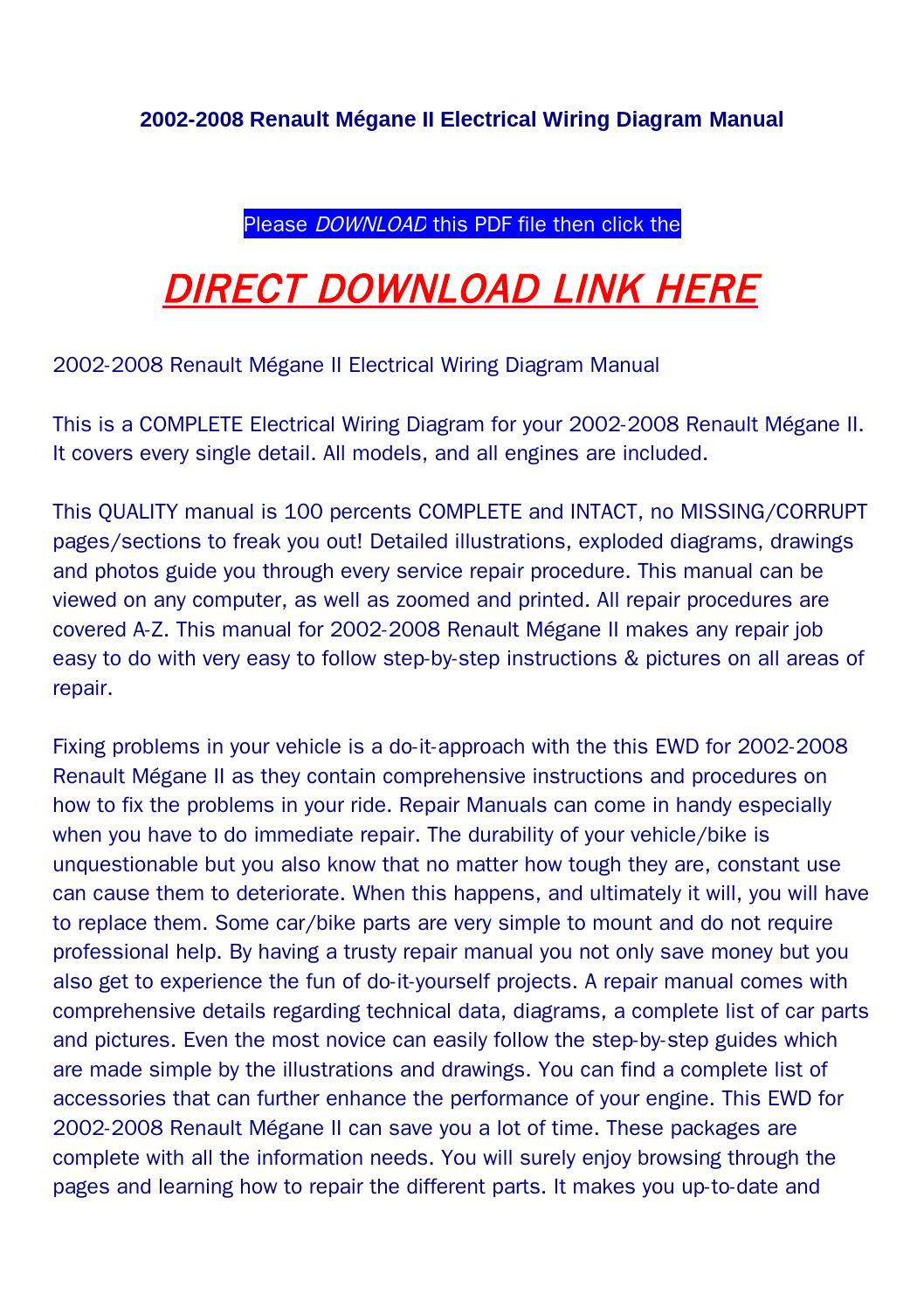 hight resolution of 2002 2008 renault m gane ii electrical wiring diagram manual by huou issuu