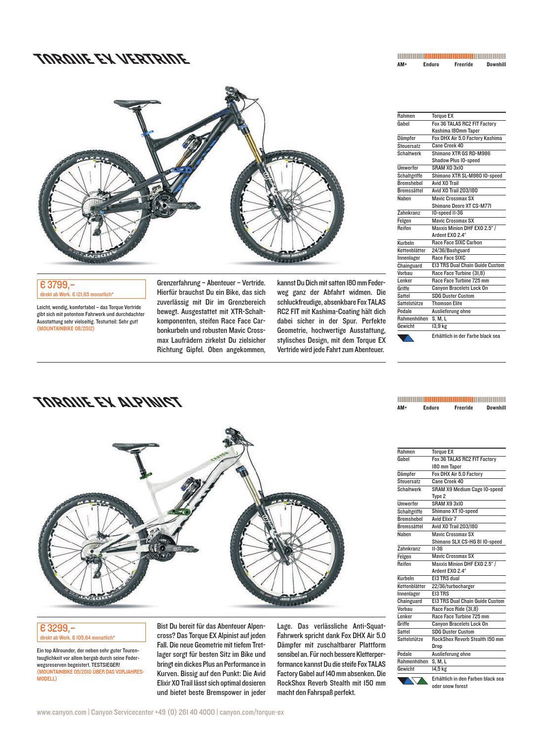 Canyon Mountainbike Katalog 2013 by Canyon Bicycles GmbH