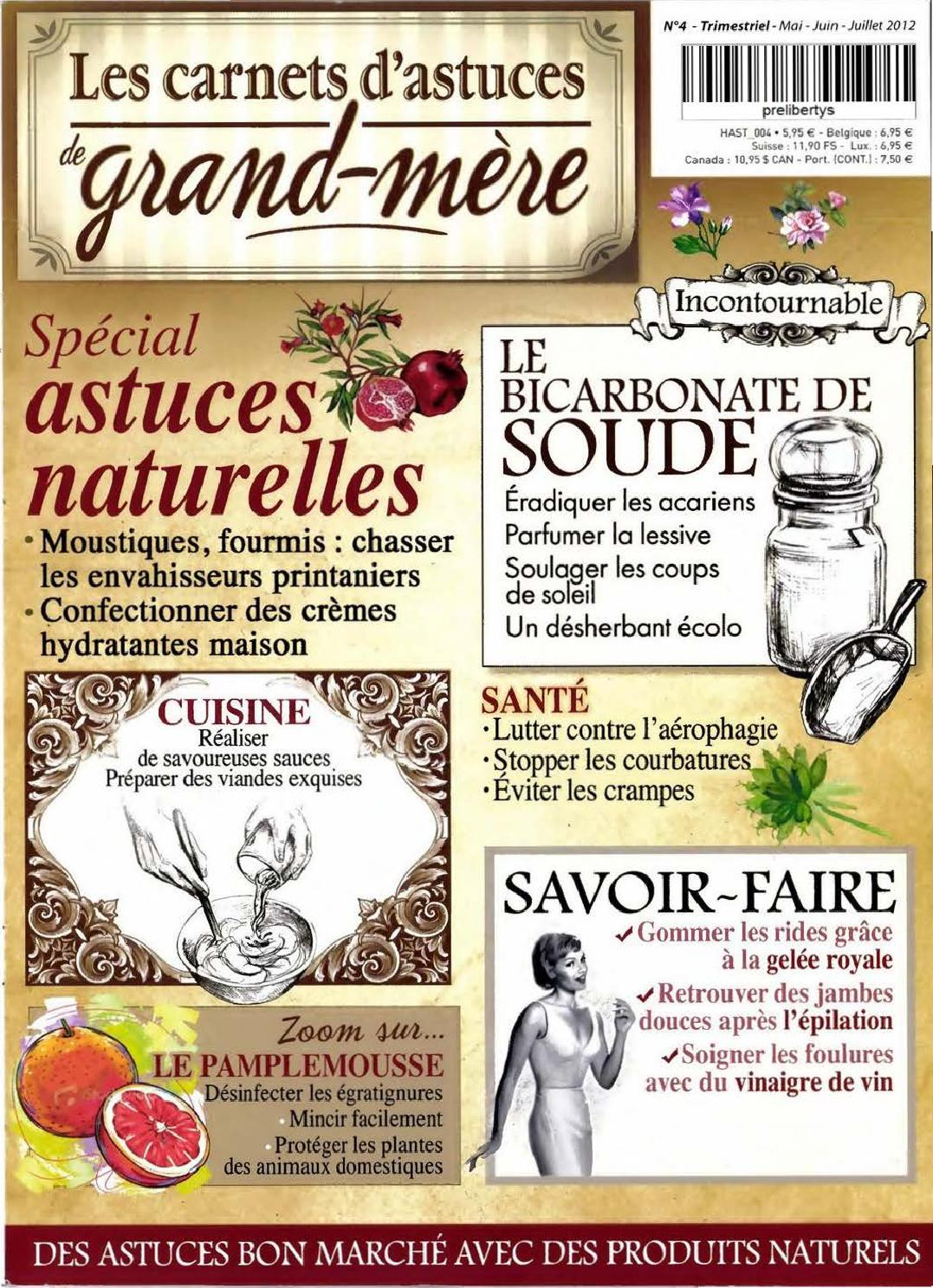 Decontractant Musculaire Remede De Grand Mere : decontractant, musculaire, remede, grand, Carnets, D'astuces, Grand, Hendrix, Issuu