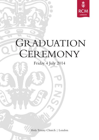 Graduation Ceremony Programme 2014 by Royal College of