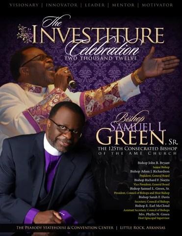 Bishop Samuel L Green Sr  Investiture Program by