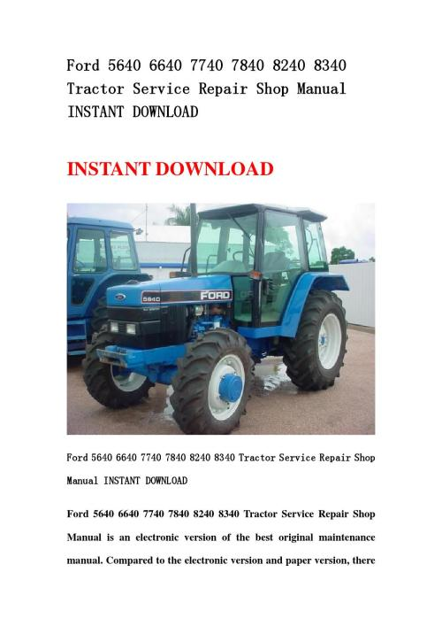 small resolution of ford 8240 wiring diagram wiring libraryford 5640 6640 7740 7840 8240 8340 tractor service repair shop