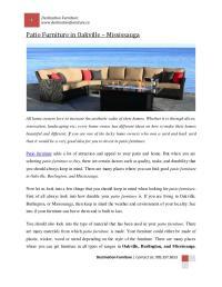 Patio furniture oakvile by Destination Furniture - Issuu
