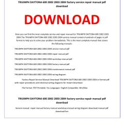 triumph daytona 600 2002 2003 2004 service repair manual by service manual issuu [ 1156 x 1496 Pixel ]