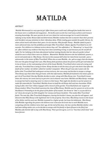 Matilda By Roald Dahl By Tota Lupi By Tota Issuu