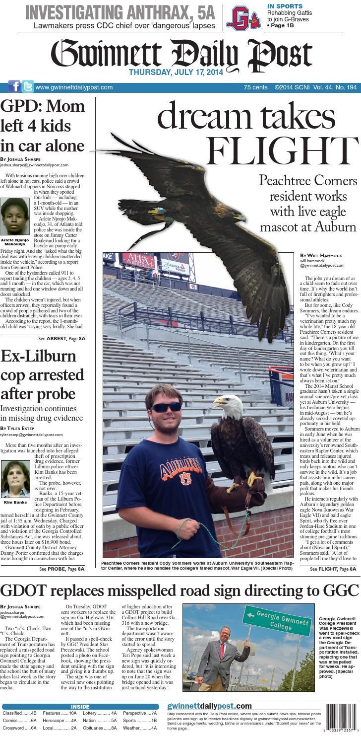 July 17 2014 — Gwinnett Daily Post By Gwinnett Daily Post Issuu