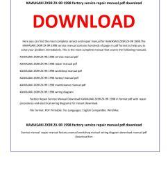 kawasaki zx9r zx 9r 1998 service repair manual [ 1156 x 1496 Pixel ]