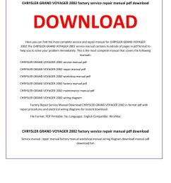chrysler grand voyager 2002 service repair manual by service manual issuu [ 1156 x 1496 Pixel ]