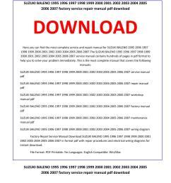 suzuki baleno 1995 1996 1997 1998 1999 2000 2001 2002 2003 2004 2005 2006 2007 service repair manual by service manual issuu [ 1156 x 1496 Pixel ]