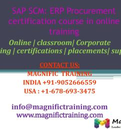 sap scm erp procurement certification course in online training by magnificbsr issuu [ 1500 x 1125 Pixel ]