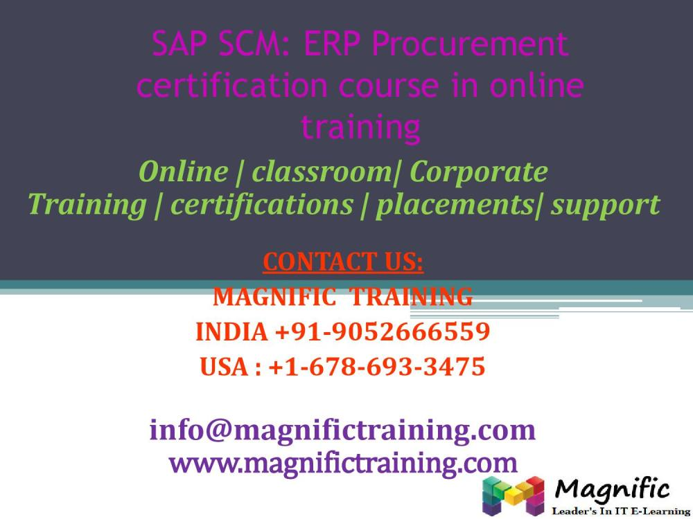 medium resolution of sap scm erp procurement certification course in online training by magnificbsr issuu