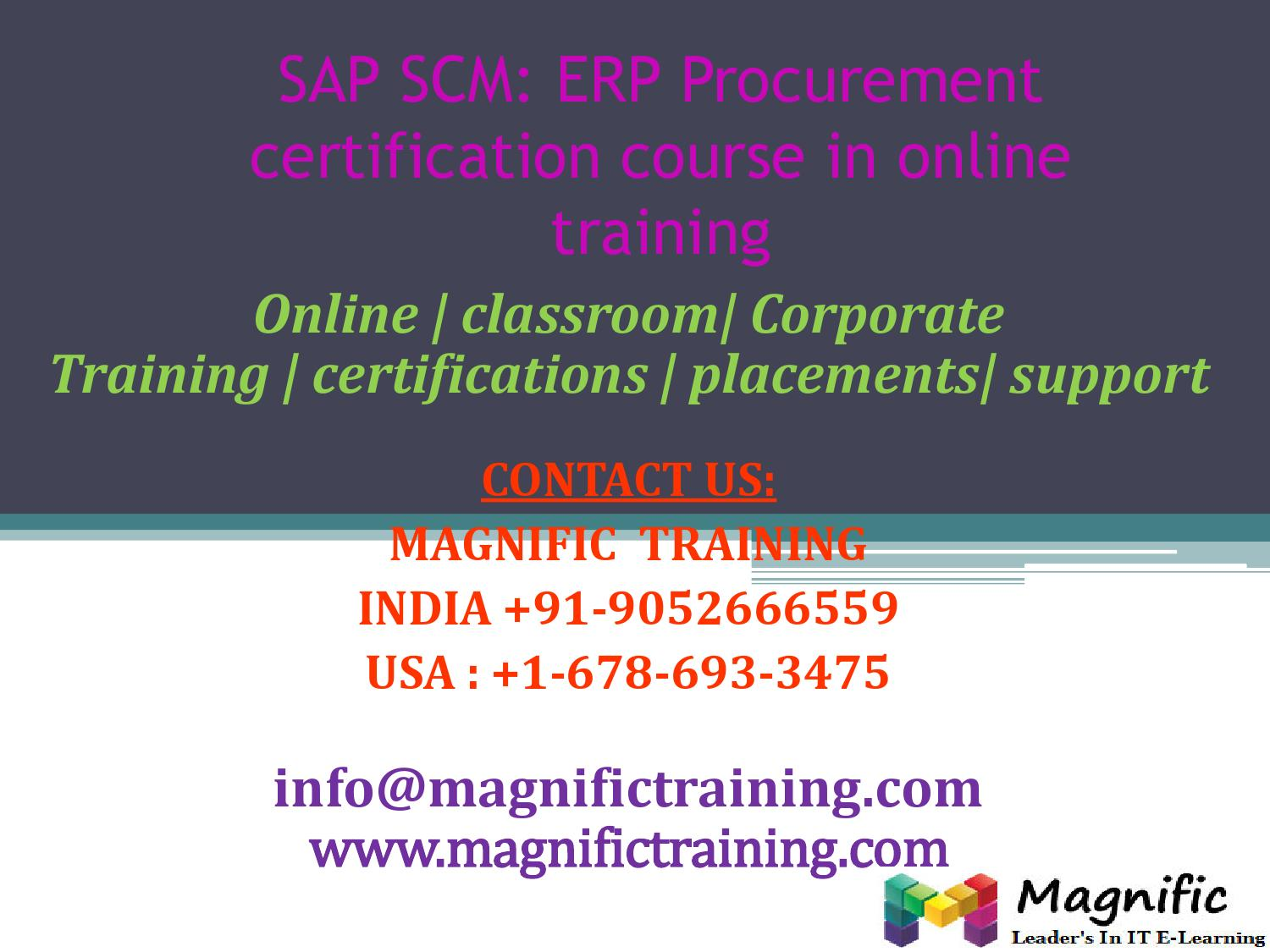 hight resolution of sap scm erp procurement certification course in online training by magnificbsr issuu