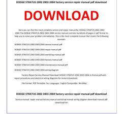 dodge stratus 2002 2003 2004 service repair manual [ 1156 x 1496 Pixel ]