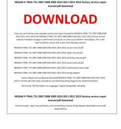 nissan x trail t31 2007 2008 2009 2010 2011 2012 2013 service repair manual by service manual issuu [ 1156 x 1496 Pixel ]