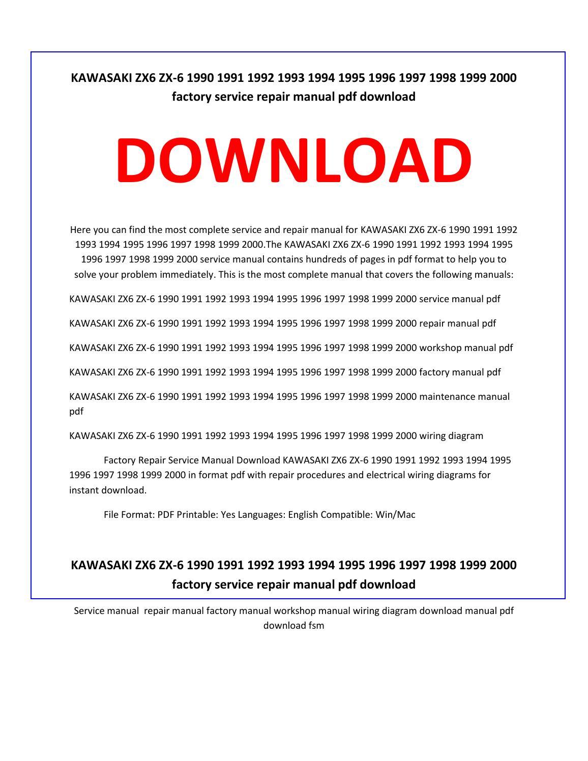hight resolution of kawasaki zx6 zx 6 1990 1991 1992 1993 1994 1995 1996 1997 1998 1999 2000 service repair manual by service manual issuu