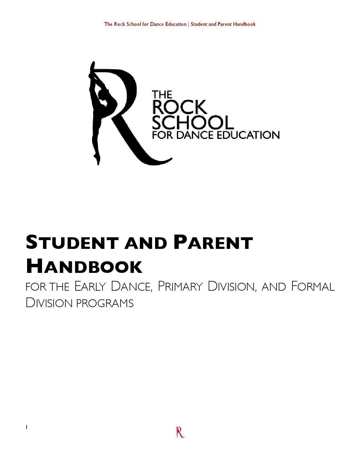2014-2015 School Year: Student Handbook by The Rock School