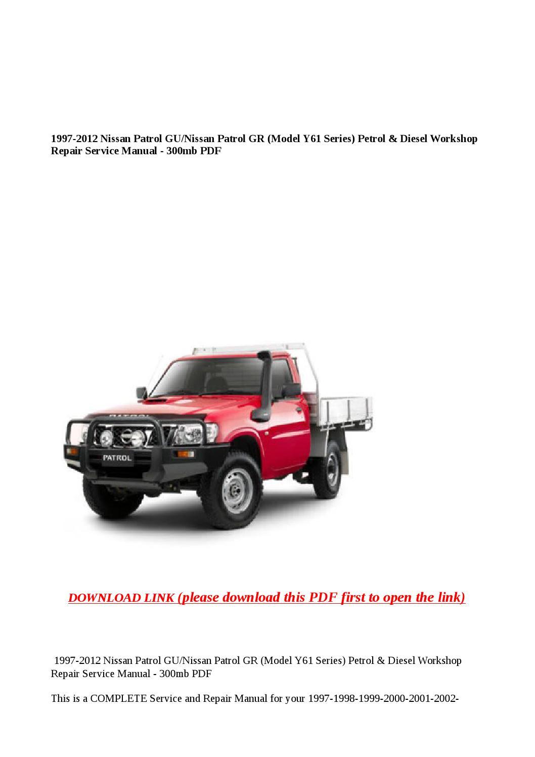 1997 2012 nissan patrol gu nissan patrol gr (model y61