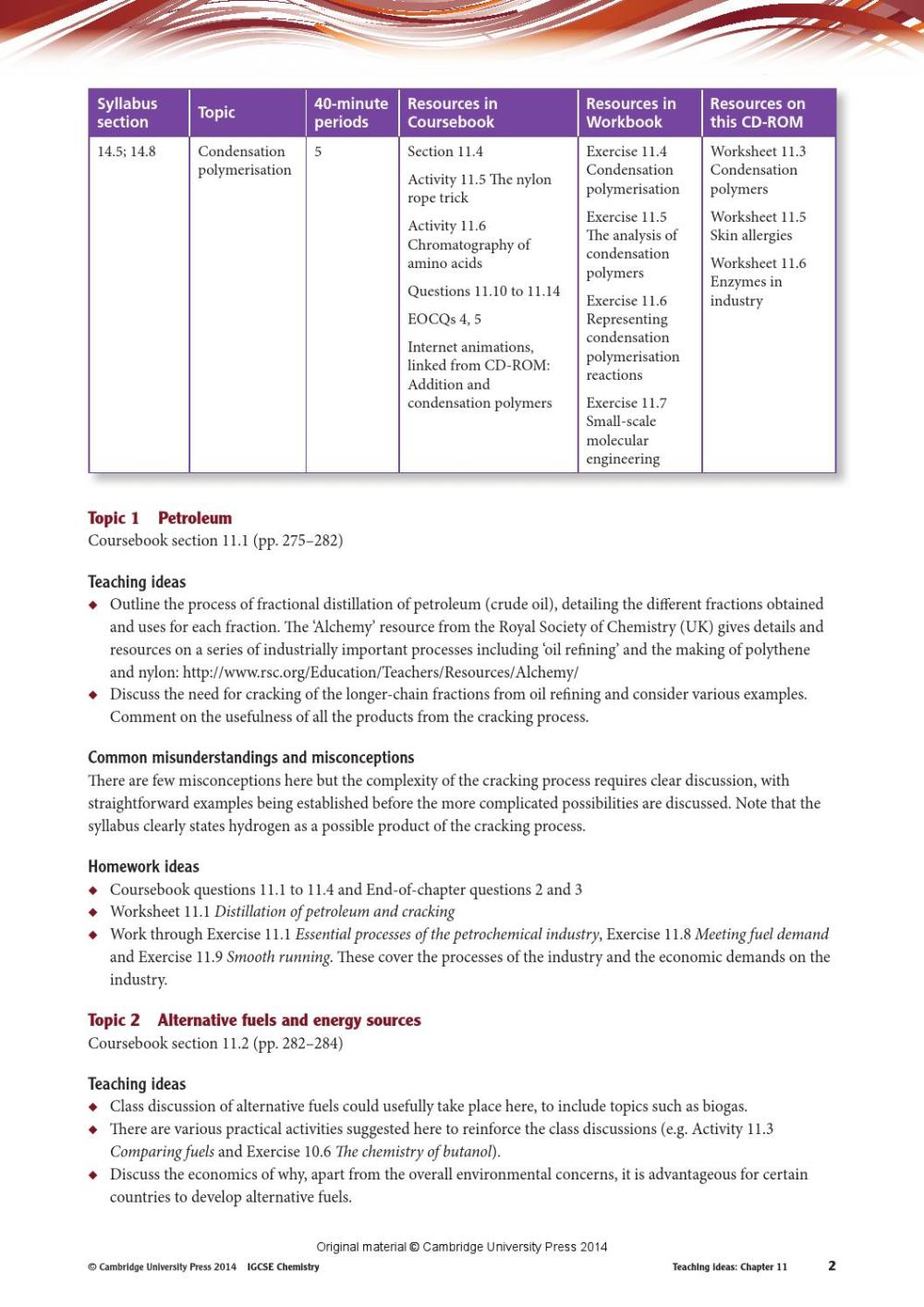 medium resolution of Cambridge IGCSE Chemistry Teacher's Resource (fourth edition) by Cambridge  University Press Education - issuu