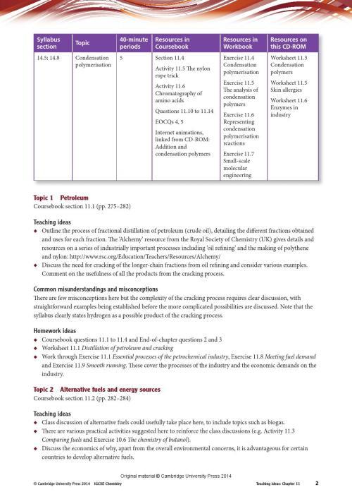 small resolution of Cambridge IGCSE Chemistry Teacher's Resource (fourth edition) by Cambridge  University Press Education - issuu
