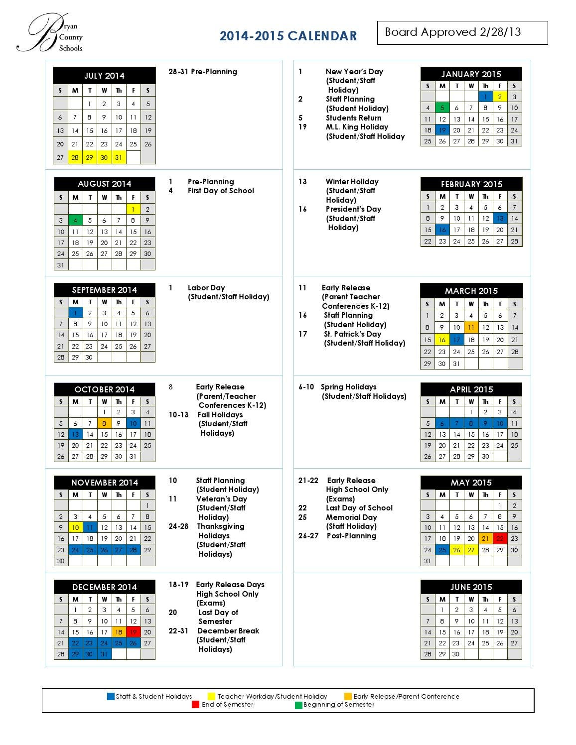 Bryan County Schools 2014 2015 by 1-3 ARB / 3-17 CAV FRSA