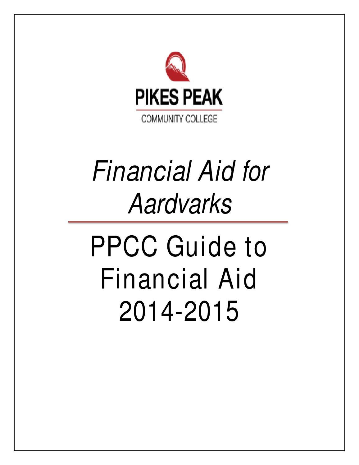 2014-2015 Financial Aid Handbook by Pikes Peak Community
